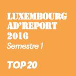 Luxembourg Ad'Report 2016 (1er semestre): les 20 marques qui investissent le plus dans la publicité au Luxembourg