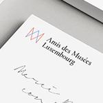 Les Amis des Musées Luxembourg dévoilent leur nouvelle identité signée Base Design Brussels