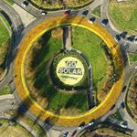 Transformer un rond point en soleil: le coup de com de Greenpeace Luxembourg