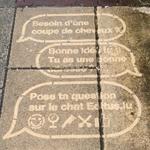 [Street Marketing] Opération «clean tag» pour Editus dans les rues de Luxembourg