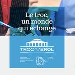 george(s) détourne les codes des banques d'images pour le Troc'n'Brol 2018