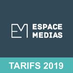 [Tarifs Média] Téléchargez les tarifs 2019 de la régie publicitaire Espace Médias (Groupe Editpress Luxembourg)