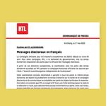 [Médias] Pour la campagne électorale, RTL refuse les spots en français – déi Lenk proteste
