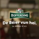 «De Béier vun hei», le nouveau slogan de Bofferding signé binsfeld