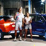 Eléonora Molinaro et Gilles Müller font de la ville leur terrain de jeu dans la nouvelle campagne SEAT Luxembourg signée Noosphere