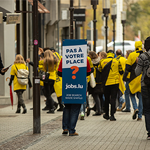 Jobs.lu en opération street marketing avec Push The Brand
