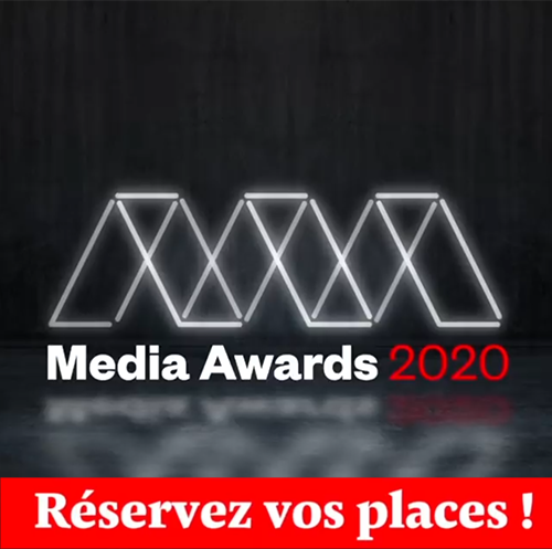 Media Awards 2020: réservez vos places et vos tables